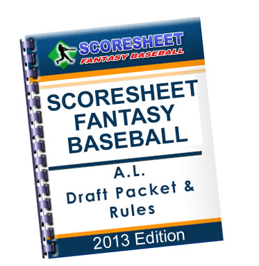 Scoresheet Fantasy Baseball Draft Packet & Rules