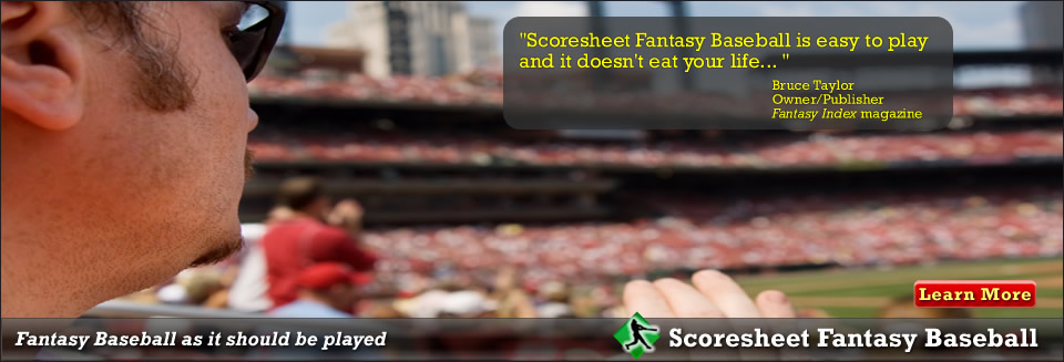 Scoresheet Fantasy Sports  Fantasy Baseball Football And Hockey